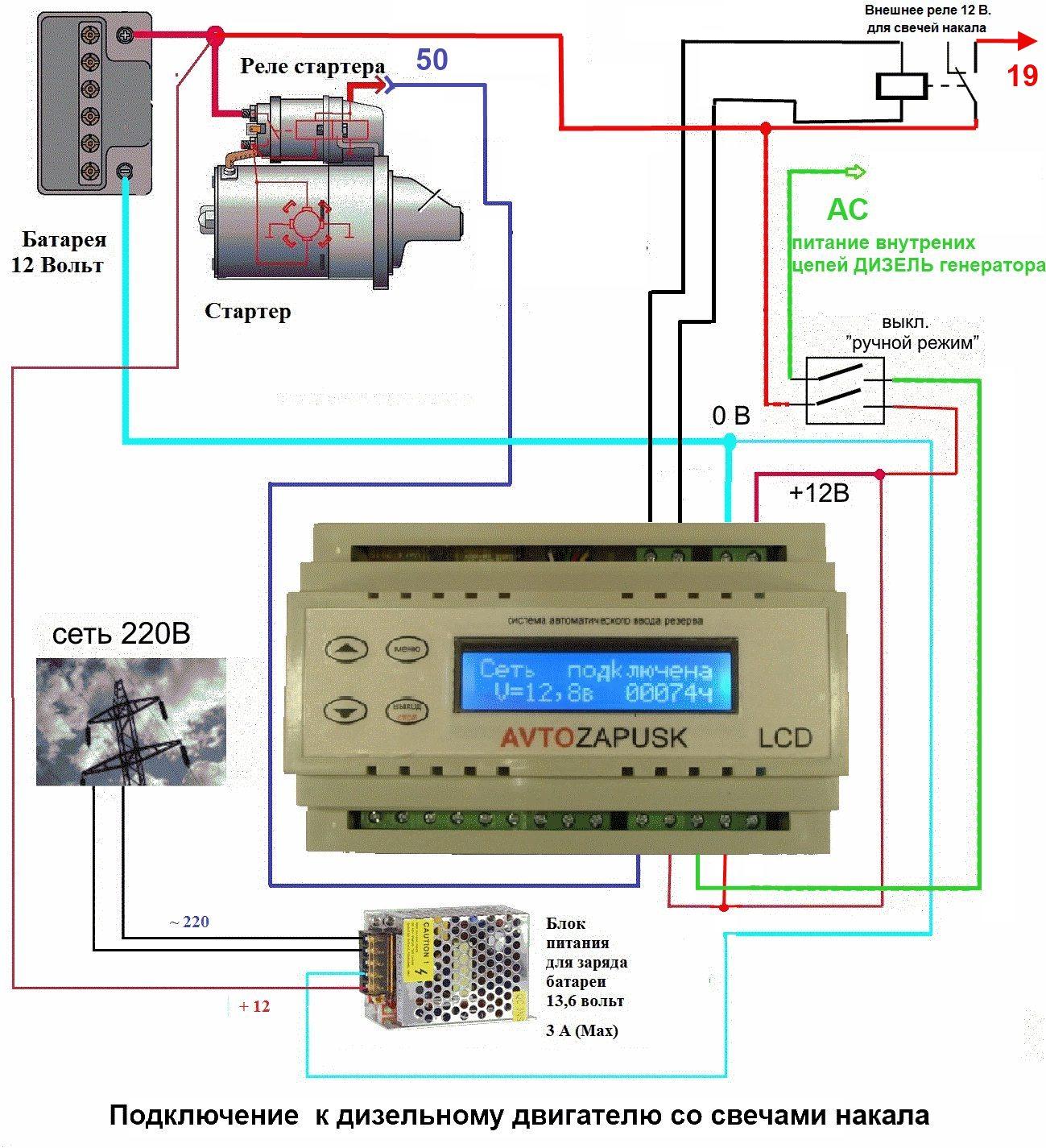 Схема подключения авр к генератору фото 48