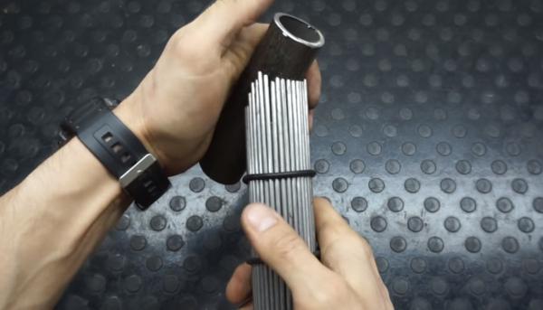 создание лекала для резки трубы под заданным углом